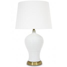 Lampa stojąca metal + marmur 62x17cm
