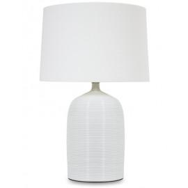 Lampa stojąca ceramiczna biała h 67 cm