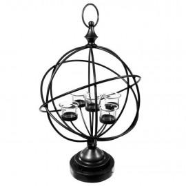 Świecznik na 5 tealight w kształcie kuli ziemskiej h-50