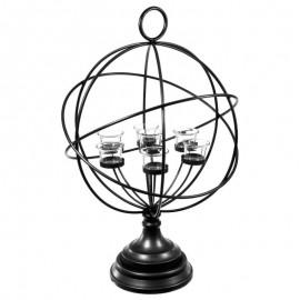 Świecznik na 7 tealight w kształcie kuli ziemskiej h-63