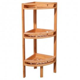 Półka narożna 3 poziomy bambusowa