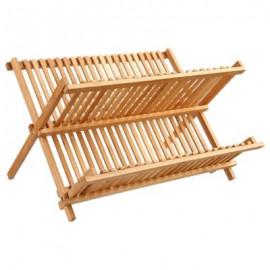 Oryginalny, bambusowy ociekacz na talerze, naczynia