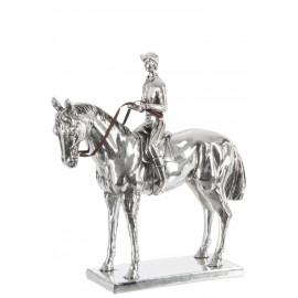 Figurka Koń + jeździec 33X13X34