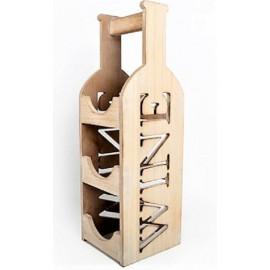 Stojak na wino drewno 3 butelki