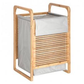 Bambusowy kosz na pranie, 35x40x60, kolor szary
