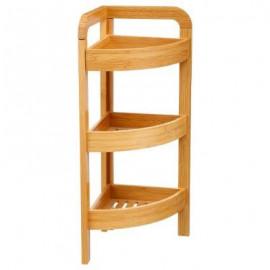 Półka narożna regał bambusowy 3 poziomy