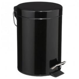 Kosz łazienkowy nowoczesny metal czarny