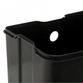 Kosz łazienkowy pojemnik na śmieci metal czarny 6 L