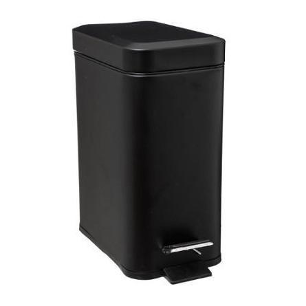 Kosz łazienkowy pojemnik na śmieci metal czarny 5 L
