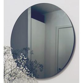 Lustro 70 cm okrągłe ścienne bezramowe grafit