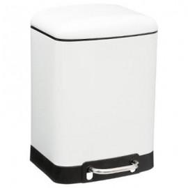 Kosz łazienkowy pojemnik na śmieci metal biały 6 L
