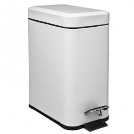 Kosz łazienkowy pojemnik na śmieci metal biały 5 L