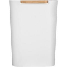 Kosz łazienkowy 5 L bambus metal biały ECO