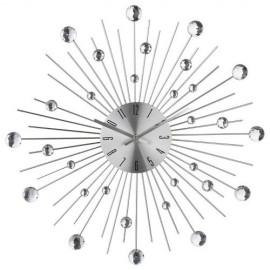 Zegar aluminiowy z cyrkoniami 35 cm