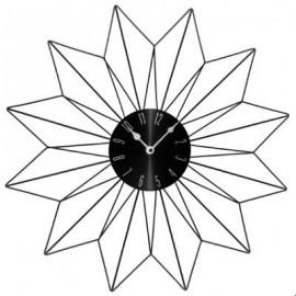 Zegar 50 cm metalowy z gwiazda czarny