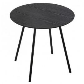 Stolik kawowy czarny MILEO, Ø 48 cm,
