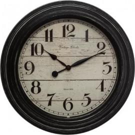 Zegar ścienny czarny Ø 30 Retro
