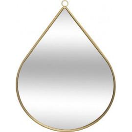 Lustro 40 cm złote ścienne w kształcie łzy