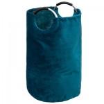 Kosz na pranie z rączką aluminium, worek niebieski