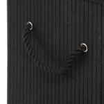 Bambusowy kosz na pranie, 40x30x50, czarny eco