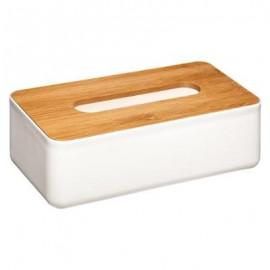 CHUSTECZNIK bambusowy biały pojemnik na chusteczki
