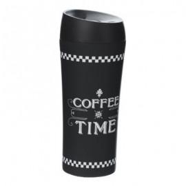 Kubek termiczny do kawy , napojów czarny 380 ml