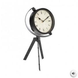 Zegar stołowy na trójnogu h-37 cm czarny LOFT