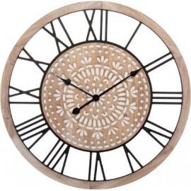 Zegar drewnie 67 cm  grawerowany d70 NATURA