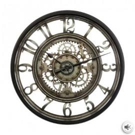 Zegar metalowy 50 cm w stylu industrialnym z cyfry arabskie