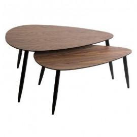 STOLIK 2 szt. zestaw stoliki kawowe do salonu orzech