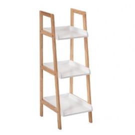 Regał biały 3 poziomy półka drewno