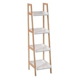 Regał biały 4 poziomy półka drewno
