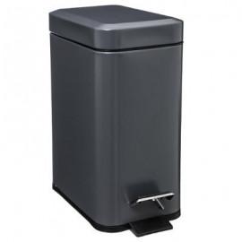 Kosz łazienkowy pojemnik na śmieci metal szary 5 L