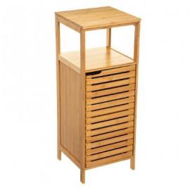 Szafka łazienkowa z półką bambus stojąca