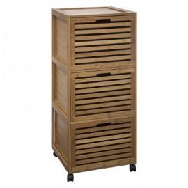 Szafka łazienkowa z szufladami bambus stojąca