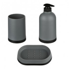 Dozownik do mydła mydelniczka kubek zestaw