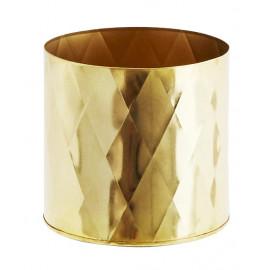 donica doniczka osłonka kolor złoty 14 cm