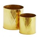 donica doniczka 2 szt komplet osłonka kolor złoty