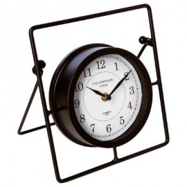 Zegar stołowy na kominek czarny LOFT