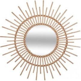 Lustro rattanowe słońce Ø 58 cm, natura d60 HIT