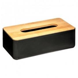 CHUSTECZNIK bambusowy czarny pojemnik na chusteczki