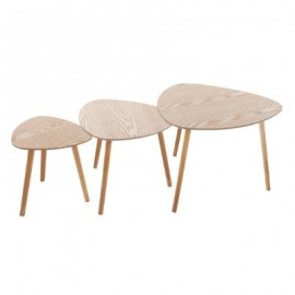 STOLIK 3 szt. zestaw stoliki kawowe do salonu natura