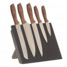 Noże kuchenne na stojaku magnetycznym 5 szt