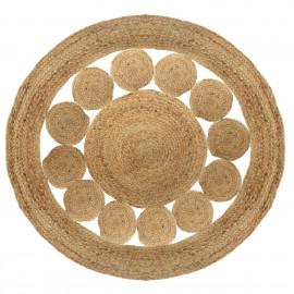 Dywan okrągły juta, Ø 120 cm BOHO etno HIT