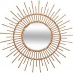 Lustro rattanowe słońce Ø 30 cm, natura HIT