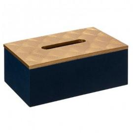 CHUSTECZNIK drewno czarny pojemnik na chusteczki