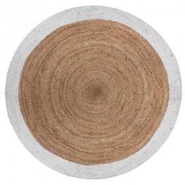 Dywan okrągły z juty , Ø 120 cm BOHO biały HIT