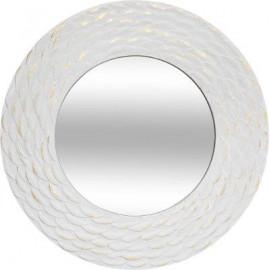 Lustro w białe szeroka rama 80 cm
