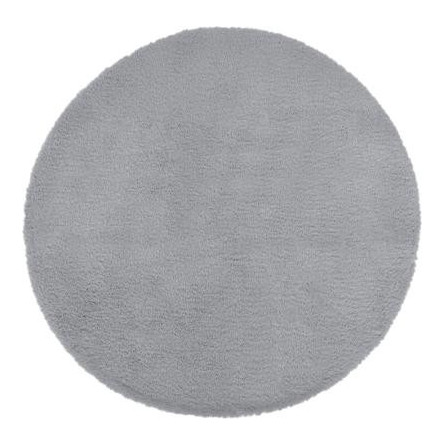 Dywan okrągły szary EXTRA MIĘKKI , Ø 80 cm HIT