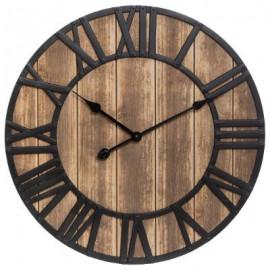 Zegar okrągły VITAGE metal drewno 60 cm UNIKAT
